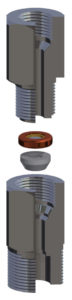 Flanged high pressure bursting disc in fitting