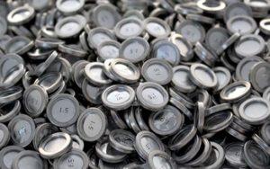 Flanged bursting discs